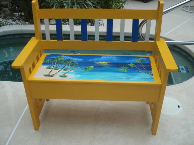 Beach Bench Susie 39 S Fun Art