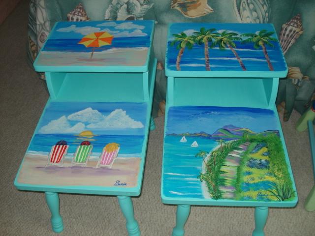 Beach Tables Girls Susie S Fun Art